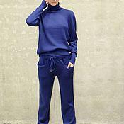 Одежда handmade. Livemaster - original item Navy Blue cashmere suit. Handmade.