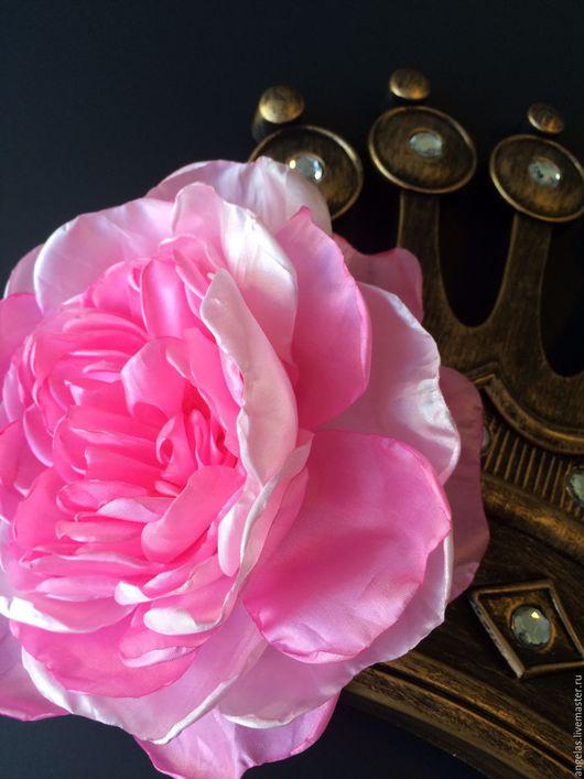 """Броши ручной работы. Ярмарка Мастеров - ручная работа. Купить Пион розовый """"Vanessa"""" большого размера. Handmade. Бледно-розовый"""