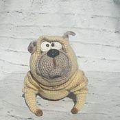 Мягкие игрушки ручной работы. Ярмарка Мастеров - ручная работа Мопс. Handmade.