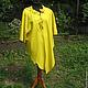 Большие размеры ручной работы. Ярмарка Мастеров - ручная работа. Купить Платье жёлтое.Платье большого размера,Платье нарядное, женская одежда. Handmade.