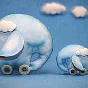 Куклы и игрушки ручной работы. Ярмарка Мастеров - ручная работа Облачные слоники или сонная прогулка в облаках.. Handmade.