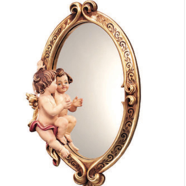 Зеркало в деревянной резной раме Ангел-хранитель, Зеркала, Москва,  Фото №1
