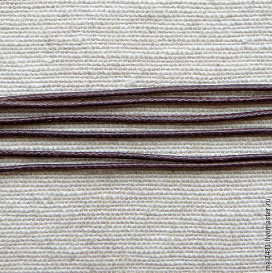 Шнур хлопок восковый цвет кофе 1 мм