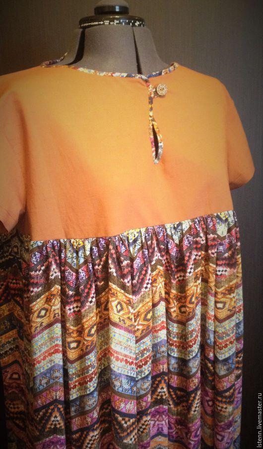 Платья ручной работы. Ярмарка Мастеров - ручная работа. Купить Летнее платье Мексика.. Handmade. Комбинированный, платье летнее