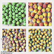 Фрукты искусственные ручной работы. Ярмарка Мастеров - ручная работа Яблоки, груши и персики маленькие в сахаре. Handmade.