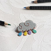 Украшения ручной работы. Ярмарка Мастеров - ручная работа Брошь-облако. Handmade.