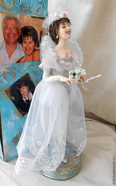 """Портретные куклы ручной работы. Ярмарка Мастеров - ручная работа. Купить Портретная кукла """"Невеста"""". Handmade. Белый, проволочный каркас"""