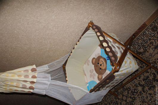 Детская ручной работы. Ярмарка Мастеров - ручная работа. Купить Люлька для малыша. Handmade. Кроватка, детская комната, ткань