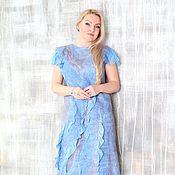 """Одежда ручной работы. Ярмарка Мастеров - ручная работа Авторское валяное платье """"  Lavender sky"""". Handmade."""