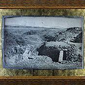 Картины ручной работы. Ярмарка Мастеров - ручная работа Хижина в горах. Высокий Атлас I Марокко. 50х70 Эгломизе. Handmade.