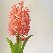 Цветы и флористика ручной работы. Ярмарка Мастеров - ручная работа Цветок из полимерной глины Розовый гиацинт. Handmade.