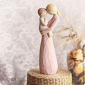 Для дома и интерьера ручной работы. Ярмарка Мастеров - ручная работа Деревянная фигурка «Мать и дитя». Handmade.