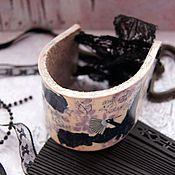 Украшения ручной работы. Ярмарка Мастеров - ручная работа Кожаный браслет  Версаль. Handmade.