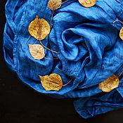 Аксессуары handmade. Livemaster - original item Stole silk Starry sky of Indigo Shibori silk. Handmade.