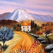 Картины ручной работы. Ярмарка Мастеров - ручная работа Тоскана. Осень в горах. Картина маслом. Handmade.