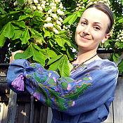 "Одежда handmade. Livemaster - original item Embroidery dress ""Thistle"" flax. Handmade."