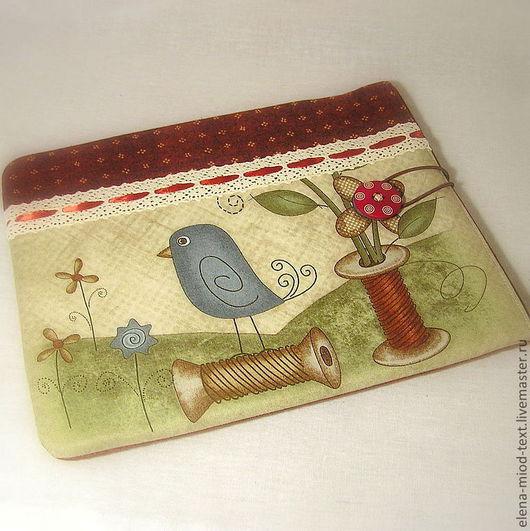 """Для телефонов ручной работы. Ярмарка Мастеров - ручная работа. Купить Чехол на iPad """"Sew a Button on"""". Handmade."""