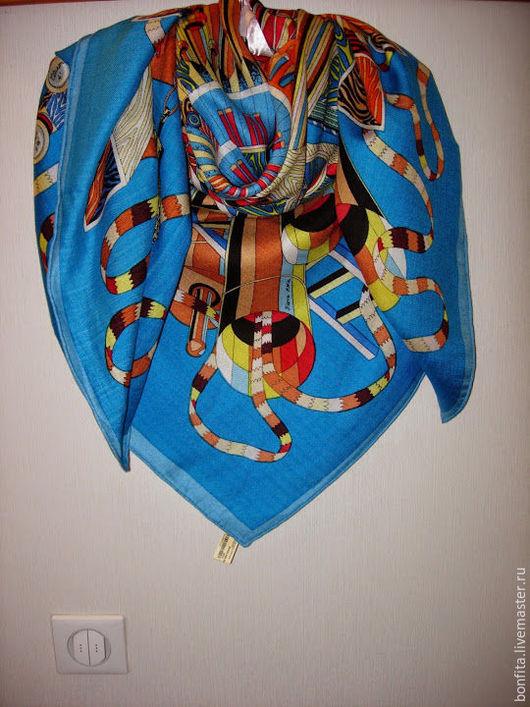 Шали, палантины ручной работы. Ярмарка Мастеров - ручная работа. Купить Платок  кашемир / шелк. Handmade. Комбинированный, платок