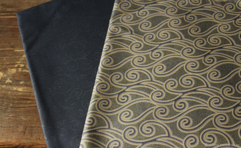 Ткань для пэчворка Узоры в серых тонах, Ткани, Санкт-Петербург,  Фото №1