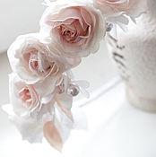 Цветы и флористика ручной работы. Ярмарка Мастеров - ручная работа Ободок с розами из фоамирана. Handmade.