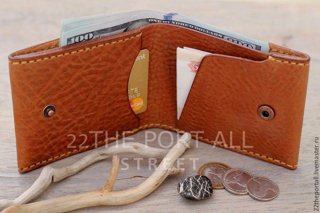 Купить Кошелек мужской, Кошельки и визитницы ручной работы. Кошелек  мужской, портмоне из кожи, портмоне кожаное мужское ... fa43c71c945