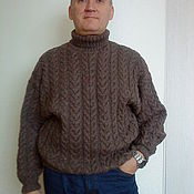 Одежда handmade. Livemaster - original item Knitted wool sweater men