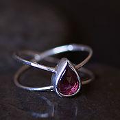Rings handmade. Livemaster - original item Infinity ring with pink tourmaline size 18. Handmade.