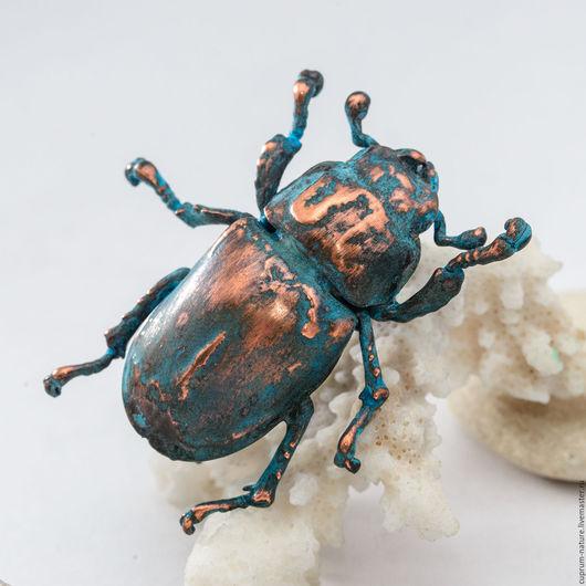 """Броши ручной работы. Ярмарка Мастеров - ручная работа. Купить Брошь """"Синяя фобия"""" (насекомое) 4. Handmade. Жук"""