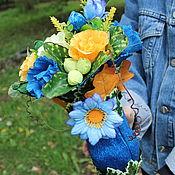 Цветы и флористика ручной работы. Ярмарка Мастеров - ручная работа Первый звонок...букет из конфет 1 Сентября. Handmade.