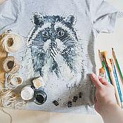 Одежда handmade. Livemaster - original item t-shirt baby Raccoon oops. Handmade.