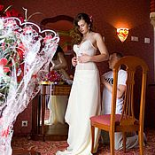 Свадебный салон ручной работы. Ярмарка Мастеров - ручная работа Платье на ситцевую свадьбу. Handmade.