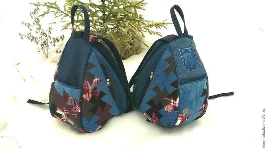 """Рюкзаки ручной работы. Ярмарка Мастеров - ручная работа. Купить Рюкзак джинсовый """"Twister_2"""". Handmade. Тёмно-синий, текстиль, для прогулок"""