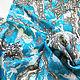 """Заказать Платок """"Балет сине-голубой"""". Irina Ternovskaya Design. Ярмарка Мастеров. . Платки Фото №3"""