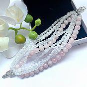 Украшения handmade. Livemaster - original item Bracelet with adult, rose quartz