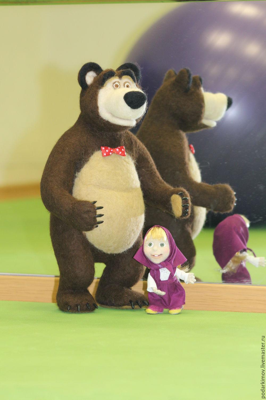 """Медведь из м/ф """"Маша и Медведь"""" 36 см. Игрушка из шерсти, Войлочная игрушка, Санкт-Петербург,  Фото №1"""