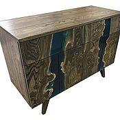 Для дома и интерьера handmade. Livemaster - original item Stand made of solid elm wood with epoxy resin fills. Handmade.