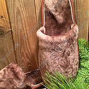 Обувь ручной работы. Ярмарка Мастеров - ручная работа тапочки из овчины. Handmade.