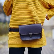 Сумки и аксессуары handmade. Livemaster - original item Leather waist bag Minimal. Handmade.