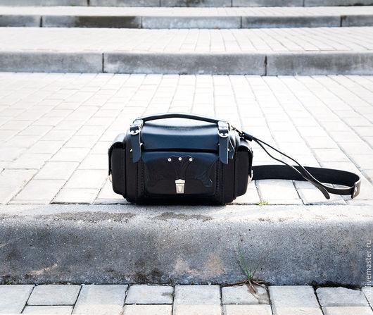 Мужские сумки ручной работы. Ярмарка Мастеров - ручная работа. Купить Кофр из натуральной кожи (чёрный). Handmade. Черный