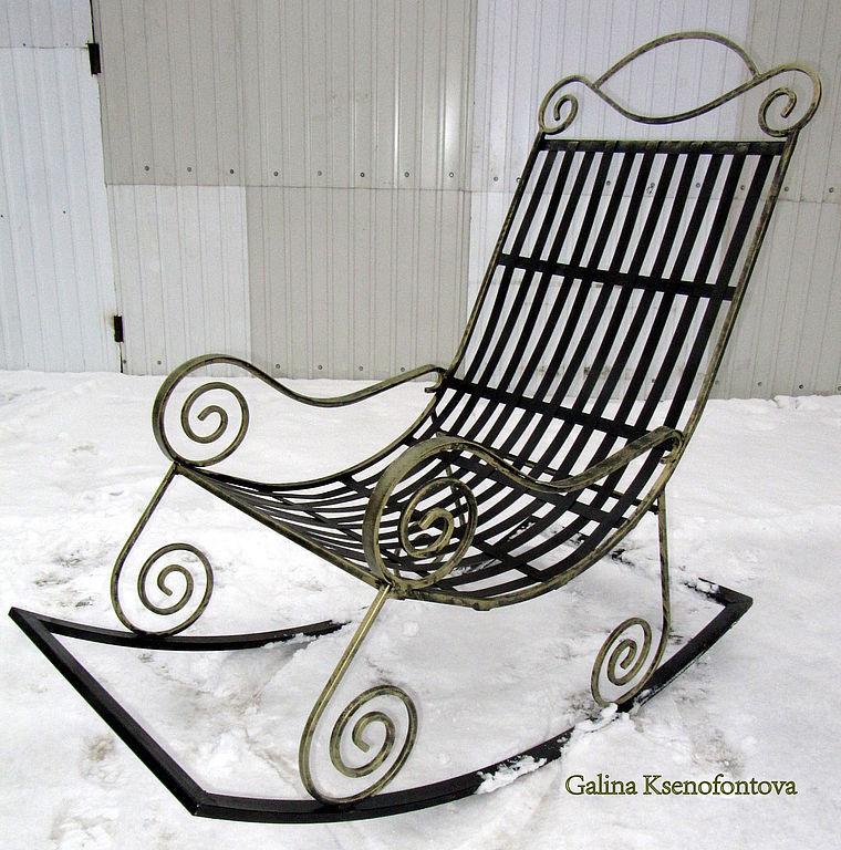 Кресла качалки из металла своими руками фото