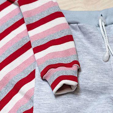 Товары для малышей ручной работы. Ярмарка Мастеров - ручная работа Комплект одежды. Трикотажный костюм для девочки. Водолазка и штаны. Handmade.