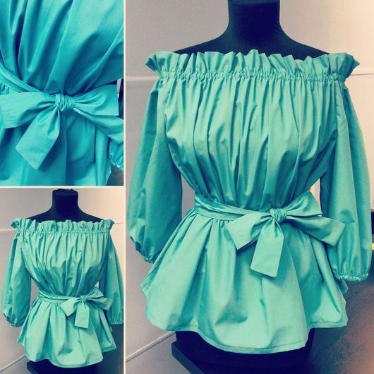 Блузки ручной работы. Ярмарка Мастеров - ручная работа. Купить Хлопковая блуза. Handmade. Блузка, блузка женская, хлопок