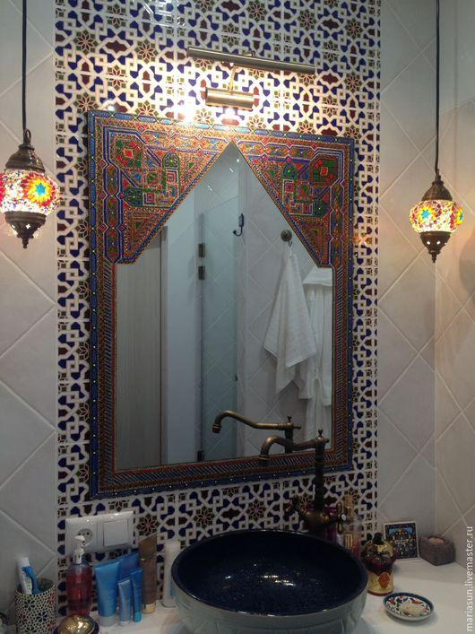 """Зеркала ручной работы. Ярмарка Мастеров - ручная работа. Купить Зеркало для ванной """"Восточное"""". Handmade. Зеркало для ванной, интерьерное зеркало"""