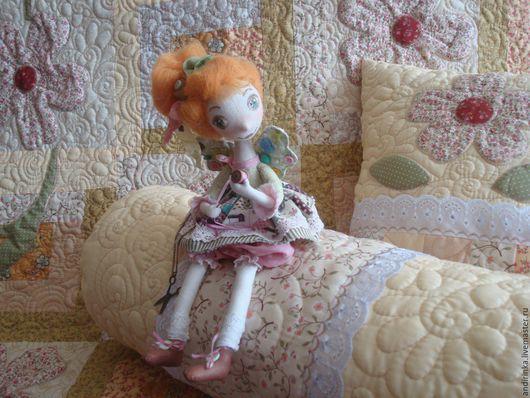"""Текстиль, ковры ручной работы. Ярмарка Мастеров - ручная работа. Купить """"Цветут цветы"""". Handmade. Бежевый, аппликация из ткани, бязь"""