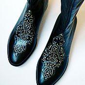 """Обувь ручной работы. Ярмарка Мастеров - ручная работа Сапоги """"Восточные сказки"""". Handmade."""