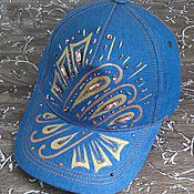 Аксессуары handmade. Livemaster - original item Baseball cap denim 3 options. Handmade.