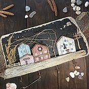 Для дома и интерьера handmade. Livemaster - original item Wall-mounted housekeepers: old European town. Handmade.