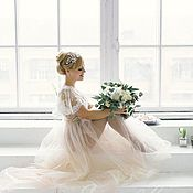 Свадебный салон handmade. Livemaster - original item Boudoir wedding dress — Share - Sale Sample. Handmade.