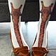 Носки, Чулки ручной работы. Гольфы с жирафом. Натали (Coline). Ярмарка Мастеров. Чулочные изделия, одежда для женщин, гольфы