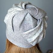 Аксессуары handmade. Livemaster - original item Cap felted grey.... Handmade.
